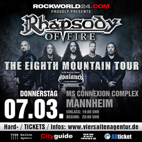 Rhapsody Of Fire - The Eighth Mountain Tour 2019