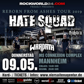 HATE SQUAD - Reborn From Ashes TOUR 2019