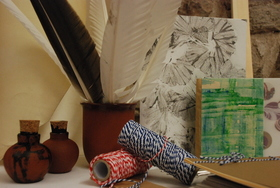 Bild: Scriptorium - Ein Buch entsteht (Papierschöpfen)
