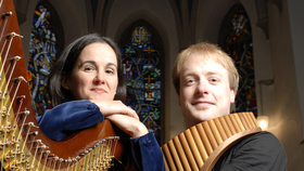 Bild: Virtuose Panflöte - Panflöte und Harfe (Schlubeck / Moreton)