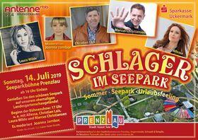 Bild: Schlager im Seepark 2019 - Christian Lais, Laura Wilde, Allessa und Marcus Christiansen