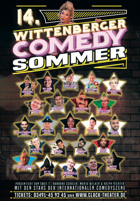 Bild: 14. Comedy Sommer Festival - CLACK Theater-Ensemble und Stargast Michael Steinke
