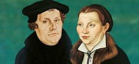 Bild: Geschichten bei Tische - Luther und Katharina - Speisen mit Luther`s