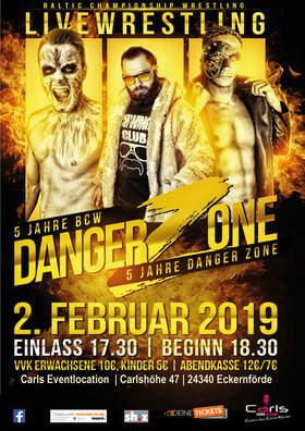 Bild: BCW Danger Zone 2019 - Live Wresling