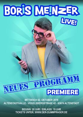 Bild: Boris Meinzer - Neues Programm - Premiere