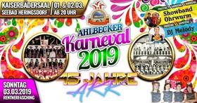 Jubiläumsveranstaltung 45 Jahre Ahlbecker Karneval - Große Festsitzung mit geladenen Gästen und befreundeten Klubs