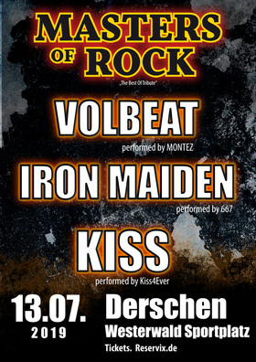 Bild: MASTERS OF ROCK - Tribute to IRON MAIDEN, VOLBEAT und KISS