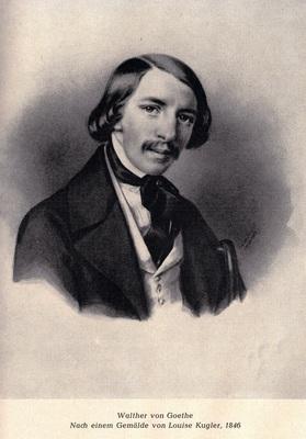 Bild: Walther von Goethe: Die Bürde eines großen Namens