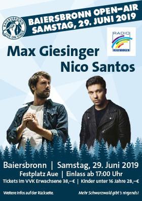 Baiersbronn Open-Air 2019 - Max Giesinger & Nico Santos