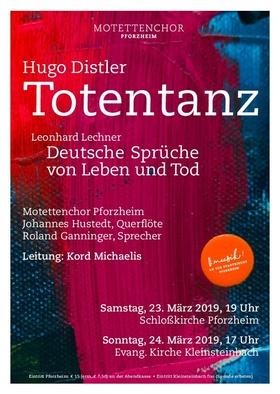 Bild: Passionskonzert - Leonard Lechner: Deutsche Gesänge von Leben und Tod, Hugo Distler: Totentanz