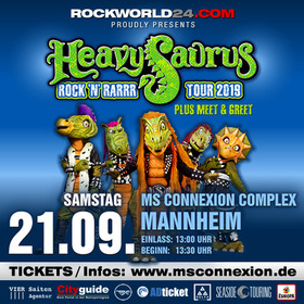 Bild: Heavysaurus - Rock´n´Rarrr Tour 2019