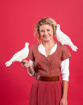 Bild: Zwei Tauben für Aschenputtel - nach den Gebrüdern Grimm