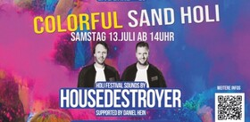 Bild: Colorful Sand Holi - mit Housedestroyer