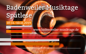 Bild: Badenweiler Musiktage Herbst 2019 - Kammerkonzert II