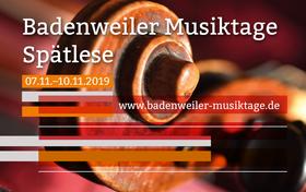 Bild: Badenweiler Musiktage Herbst 2019 - Kammerkonzert III
