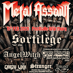 Bild: Metal Assault - Mit: SORTILEGE, ANGEL WITCH, CHRIS HOLMES & THE MEAN MEN, CRAZZY LIXX uvm.