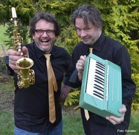 Bild: Sax-O-Phil - Hartmut Schölch und Andreas Lenz von Ungern-Sternberg