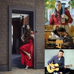Bild: Nacht der Gitarren  mit Lulo Reinhardt , Daniel Stelter, Yulia Lonskaya & Itamar Erez
