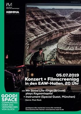 Bild: We Stood Like Kings plays Koyaanisqatsi + Instrument - Konzert & Film-Screening KOYAANISQATSI