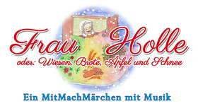 """Bild: Theater """"Radelrutsch"""" - Frau Holle oder Wiesen, Brote, Äpfel und Schnee"""