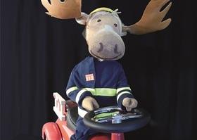 Bild: Finn, der Feuerwehrelch - Wodo Puppenspiel