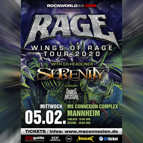Bild: Rage - Wings Of Rage - Tour 2020