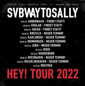 Bild: SUBWAY TO SALLY - HEY! Tour 2020