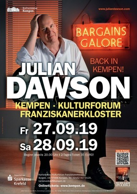 Bild: Julian Dawson ´Back in Kempen!´ - 2-Tage Ticket Julian Dawson