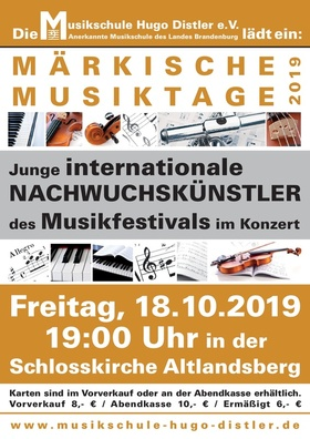 Bild: Märkische Musiktage 2019 - Musikfestival der Musikschule Hugo Distler