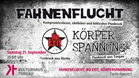 Bild: Punk Konzert mit Fahnenflucht & No Exit – support: Körperspannung