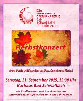 Bild: Herbstkonzert - mit Absolventen und Studierenden der Internationalen Opernakademie Bad Schwalbach