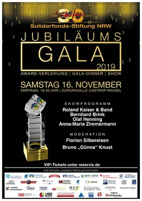Bild: Solidarfonds-Jubiläums-Gala 2019 - Award-Verleihung|Gala-Dinner|Showprogramm