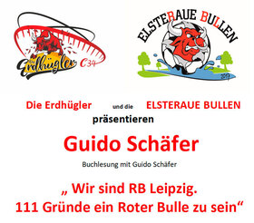 Bild: Lesung im Volkshaus - Wir sind RB Leipzig. - 111 Gründe ein Roter Bulle zu sein