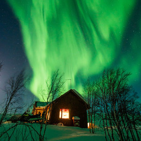 Bild: Nord-Licht  Zu Hause in Lappland