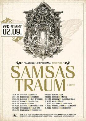 SAMSAS TRAUM TOUR 2020 - Phantasai, lieb Phantasai Tour 2020