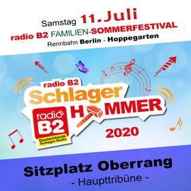 Bild: Kat. 3 - radio B2 SchlagerHammer – Oberrang (Sitzplatz) 69,90€ + VVK. Geb.