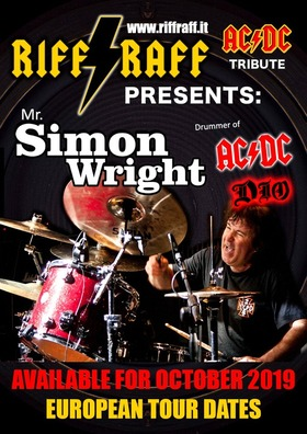Bild: original AC/DC Drummer  Simon Wright - original AC/DC Drummer Simon Wright und Riff Raff
