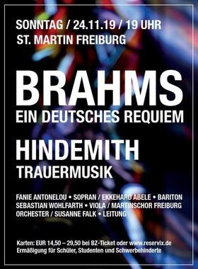"""Bild: Johannes Brahms, """"Ein deutsches Requiem"""" - sowie von Paul Hindemith"""