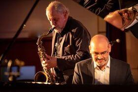 "Bild: ""Swingin' Blues & Boogie Woogie"" - F. Muschalle (Piano) & S.Holstein (Klarinette, Sax)"