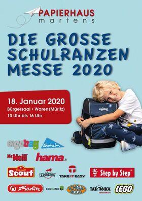 """Große Schulranzenmesse - veranstaltet vom """"Papierhaus Martens"""""""