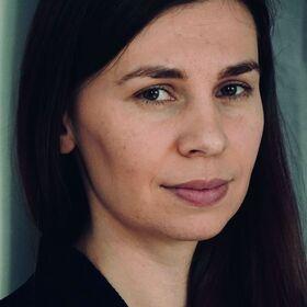 """Bild: Tanja Maljartschuk liest """"Der Blauwal der Erinnerung"""""""