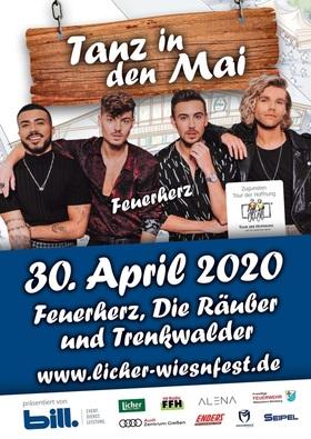 """Bild: 12. Licher Wiesnfest Pohlheim - TANZ IN DEN MAI - Zugunsten der Aktion: """"Tour der Hoffnung mit Feuerherz, Räuber & Trenkwalder"""