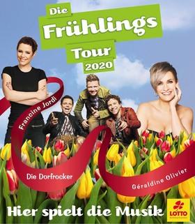 "ENTFÄLLT +++ Hier spielt die Musik - Die Frühlingstour 2020 - mit Geraldine Olivier, Francine Jordi, ""Die Dorfrocker"""