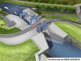 Bild: Baustellenführungen: Neubau der Kanalschleuse im Nordseebad Otterndorf
