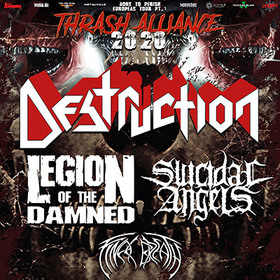 THRASH ALLIANCE Tour 2020 - DESTRUCTION | LEGION OF THE DAMNED ...