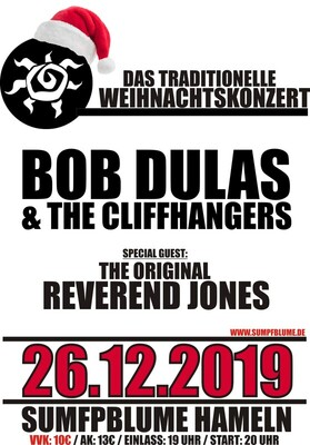 Bob Dulas & the Cliffhangers - Special Guest: The Original Reverend Jones