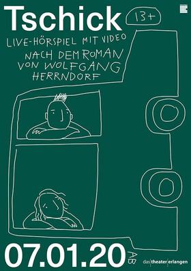 Bild: TSCHICK - Live-Hörspiel mit Video nach dem Roman von Wolfgang Herrndorf