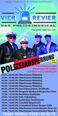 Vier im Revier - Tournee 2020 - Das Polizeimusical - Freunde und Helfer