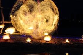 Bild: Lagune in Flammen
