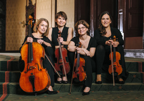 Bild: Elisen-Quartett und Cembalo J.Haydn: Die sieben letzten Worte unseres Erlösers am Kreuz Cembalokonzert F-dur C.Ph.E.Bach: Cembal